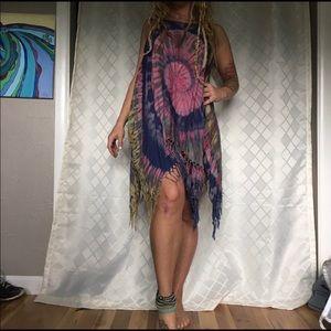Tye dye boho hippie dress
